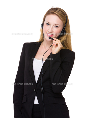Customer services officerの写真素材 [FYI00771572]
