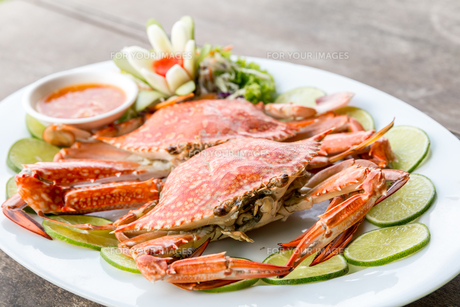 steam crab seafoodの写真素材 [FYI00771654]