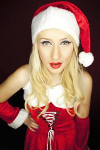 Pretty Christmas girlの写真素材 [FYI00771961]