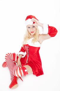 Lovely blonde Christmas girlの写真素材 [FYI00771973]