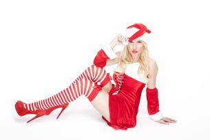 Attractive blonde Christmas girlの写真素材 [FYI00771985]