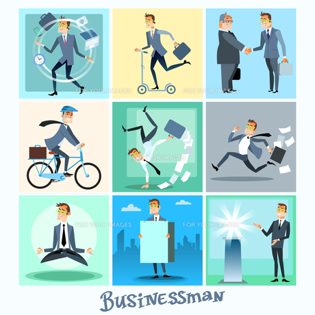 Set businessman collection business situationsの素材 [FYI00772208]