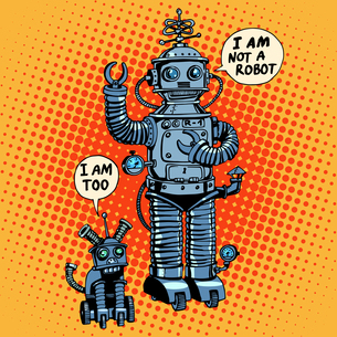 I am not a robot said dog future science fictionの写真素材 [FYI00772225]