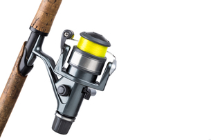 fishing rod and reel with lineの写真素材 [FYI00772415]