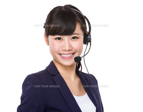 Customer services representativeの写真素材 [FYI00772589]