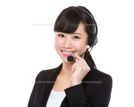 Customer services representativeの写真素材 [FYI00772591]