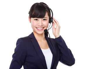 Businesswoman with headsetの写真素材 [FYI00772598]