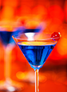 Cocktails Collection - Blue Martiniの写真素材 [FYI00772852]