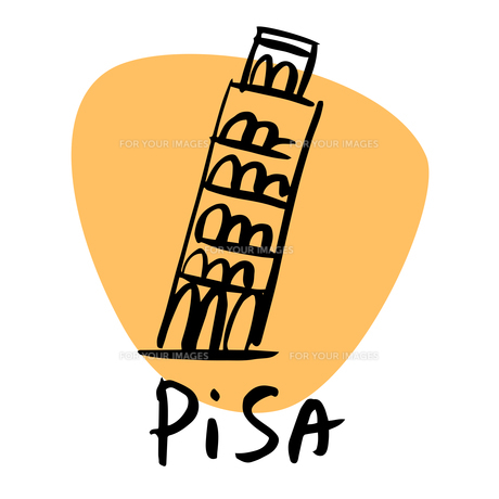 Pisa Italy leaning towerの素材 [FYI00772885]