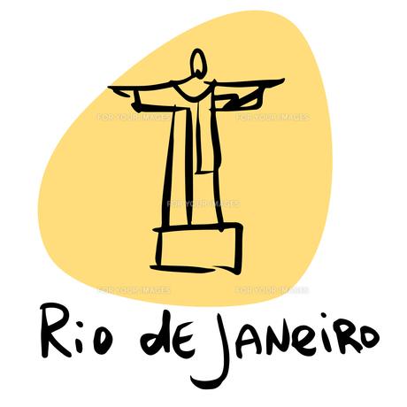 Rio de Janeiro Brazil statue of Christの素材 [FYI00772905]