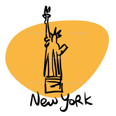 New York USA statue of libertyの素材 [FYI00772930]