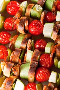 Grilled skewer,Grilled skewerの写真素材 [FYI00772941]