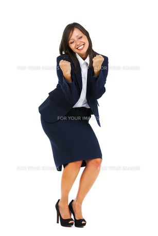 Excited Businesswoman,Excited Businesswomanの写真素材 [FYI00773296]