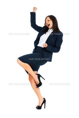 Excited Businesswoman,Excited Businesswomanの写真素材 [FYI00773311]