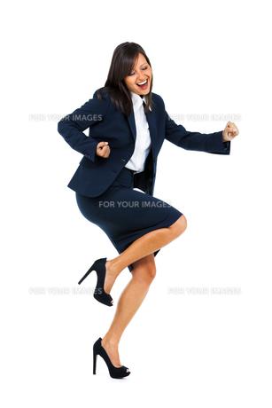 Excited Businesswoman,Excited Businesswomanの写真素材 [FYI00773314]