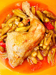 Chicken with okra,Chicken with okra,Chicken with okra,Chicken with okra,Chicken with okra,Chicken with okra,Chicken with okra,Chicken with okraの写真素材 [FYI00773466]