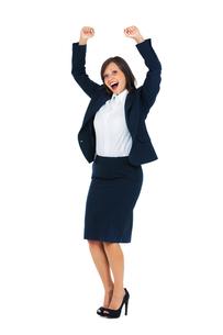 Excited Businesswoman,Excited Businesswoman,Excited Businesswoman,Excited Businesswomanの写真素材 [FYI00773706]