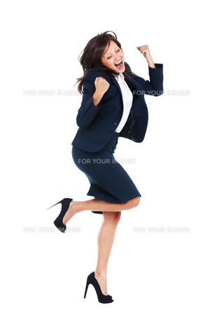 Excited Businesswoman,Excited Businesswomanの写真素材 [FYI00773709]