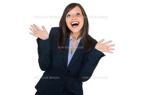 Excited businesswoman,Excited businesswoman,Excited businesswoman,Excited businesswomanの写真素材 [FYI00773714]