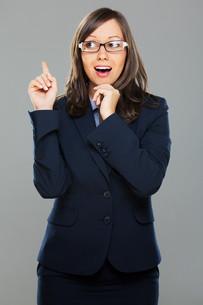 Businesswoman having an ideaの写真素材 [FYI00773729]