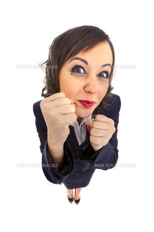 Excited Businesswoman,Excited Businesswomanの写真素材 [FYI00773885]