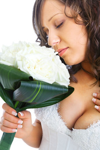 Young bride with wedding bouquet,Young bride with wedding bouquet,Young bride with wedding bouquet,Young bride with wedding bouquetの写真素材 [FYI00773906]