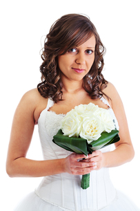 Young bride with wedding bouquet,Young bride with wedding bouquet,Young bride with wedding bouquet,Young bride with wedding bouquetの写真素材 [FYI00773908]