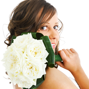 Young bride with wedding bouquet,Young bride with wedding bouquet,Young bride with wedding bouquet,Young bride with wedding bouquetの写真素材 [FYI00773955]
