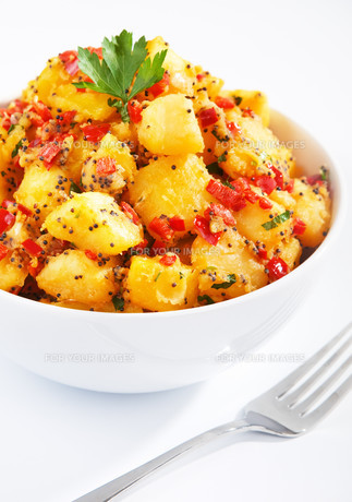 Potatos with sesame and cilantro,Potatos with sesame and cilantro,Potatos with sesame and cilantro,Potatos with sesame and cilantroの写真素材 [FYI00774214]