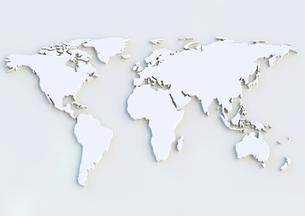 world map as 3d renderingの写真素材 [FYI00774283]