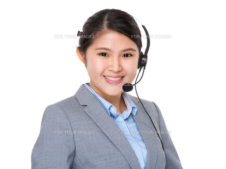 Customer service assistantの写真素材 [FYI00774336]