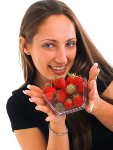 Young woman with strawberries,Young woman with strawberries,Young woman with strawberries,Young woman with strawberries,Young woman with strawberries,Young woman with strawberries,Young woman with strawberries,Young woman with strawberriesの素材 [FYI00774445]