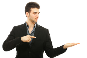 Businessman pointingの写真素材 [FYI00774508]