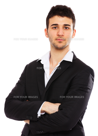 Young businessman portraitの写真素材 [FYI00774531]