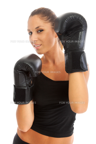 Young woman boxing,Young woman boxing,Young woman boxing,Young woman boxingの素材 [FYI00774558]