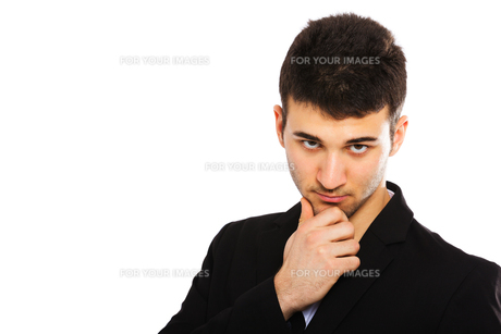 Young businessman portraitの写真素材 [FYI00774579]