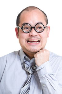 Excited businessmanの写真素材 [FYI00774583]