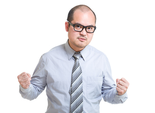 Businessman feel angryの写真素材 [FYI00774590]