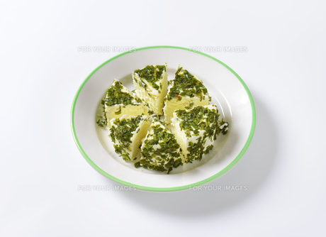 chives cheeseの写真素材 [FYI00774856]