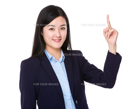 Businesswoman finger showing upの素材 [FYI00774977]
