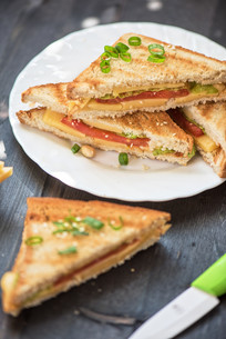 Cheese sandwichの写真素材 [FYI00775084]