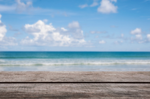 Blue sea blur backgroundの写真素材 [FYI00775179]