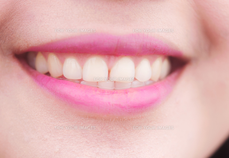 close up of a perfect smileの写真素材 [FYI00775195]