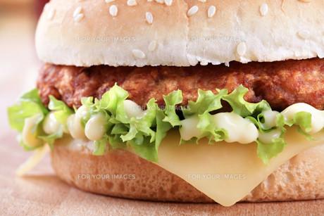 Cheeseburger with mayonnaiseの素材 [FYI00775555]