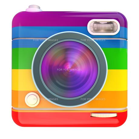 Camera icon rainbowの写真素材 [FYI00775651]