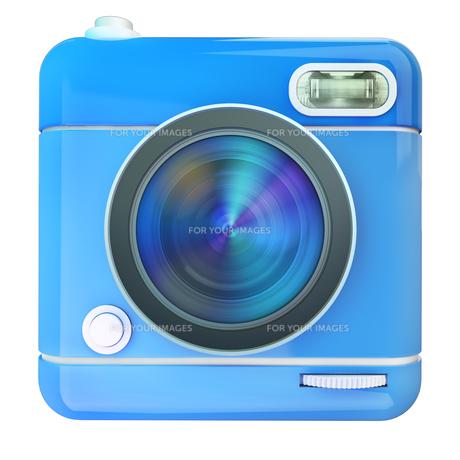 Camera icon blueの写真素材 [FYI00775654]