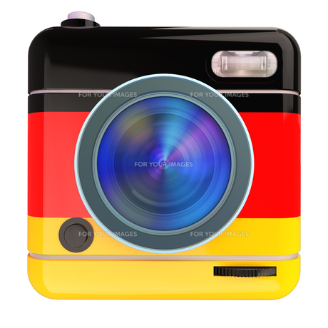 Camera icon Germanの写真素材 [FYI00775659]