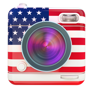 Camera icon USの写真素材 [FYI00775671]
