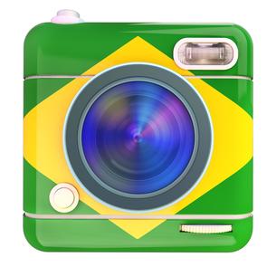 Camera icon Brazilの写真素材 [FYI00775673]