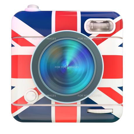 Camera icon UKの写真素材 [FYI00775676]